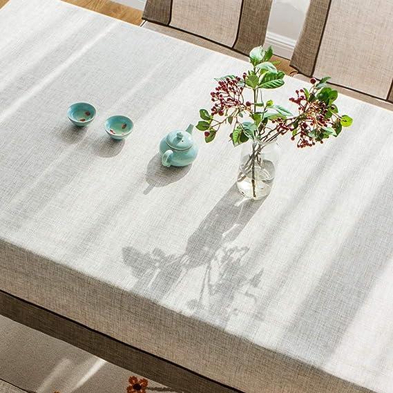 Mantele algodón y Lino Rectangular, tapete de Mesa de café para Sala de Estar Comedor (Color : Dark, Tamaño : 120×120cm): Amazon.es: Hogar