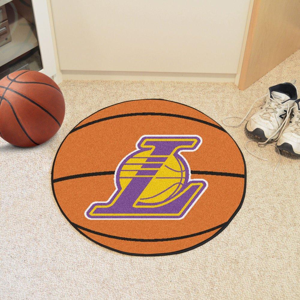 Fan Mats 10209 NBA - Los Angeles Lakers 29'' Diameter Basketball Shaped Area Rug by Fanmats