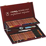 LYRA Rembrandt Polycolor Art Pencils, Set of 105 Pencils Plus Accessories, Assorted Colors (2004200)