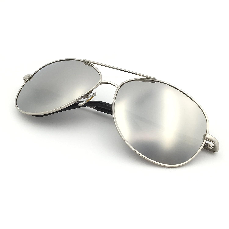 J+S Premium Military Style Classic Aviator Sunglasses Polarized 100/% UV Protection