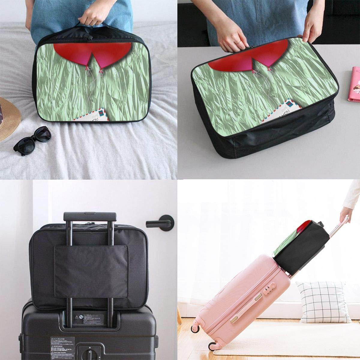 Travel Luggage Duffle Bag Lightweight Portable Handbag Love Large Capacity Waterproof Foldable Storage Tote