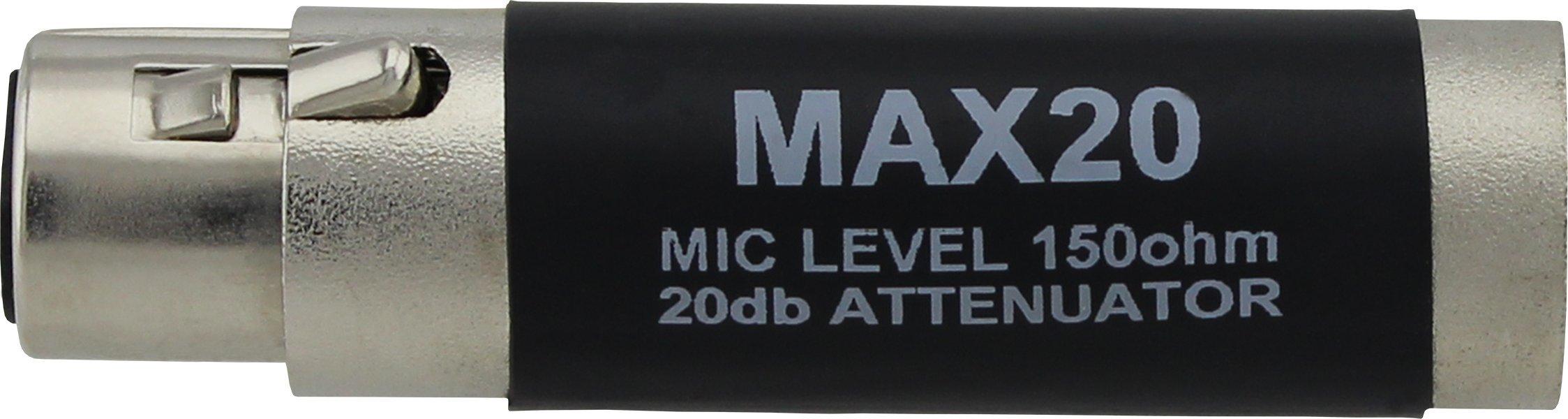 Pro Co Sound MAX20 Inline Pad 20dB