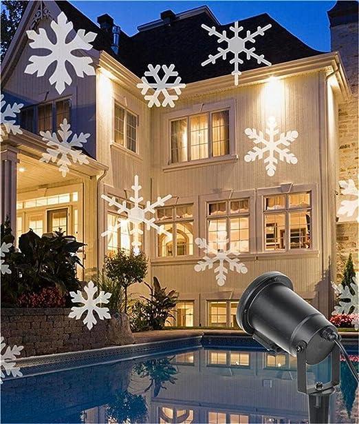 Suerte diosa Proyector de Navidad movimiento blanco copos de nieve ...