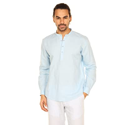 A.N.D. by Anita Dongre Mens Pullover Tunic with Mandarin Collar