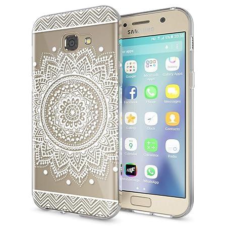 NALIA Handyhülle kompatibel mit Samsung Galaxy A5 2017, Slim Silikon Motiv Case Cover Schutz-Hülle Dünn Durchsichtig Etui Han