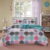Twin Xl Reversible Comforter Set Pink Teal Purple Bedding Teen Girls Pillows by Mi-Zone