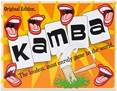Kamba - Tongue Twisting, Table thumping Turmoil. A Noisy Game for Teenagers and Adults, Perfect for Family Game Night and Designed to get The Whole Table Laughing!