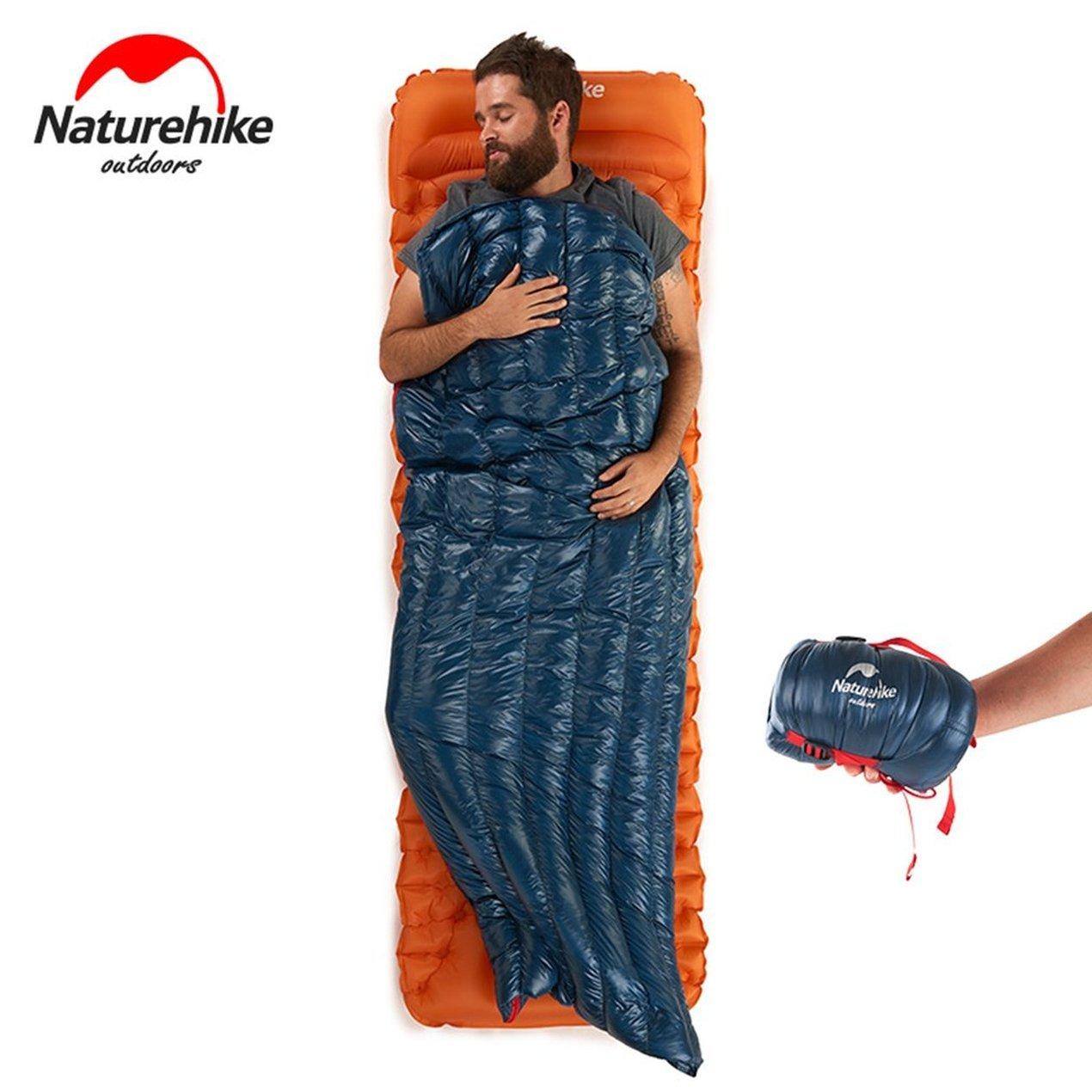 Ganso Abajo Saco de Dormir, Ultra Compacto Ligero Engrosamiento de Dormir Impermeable Bolsa de la Plaza del Estilo del Sobre, para Acampar al Aire Libre ...