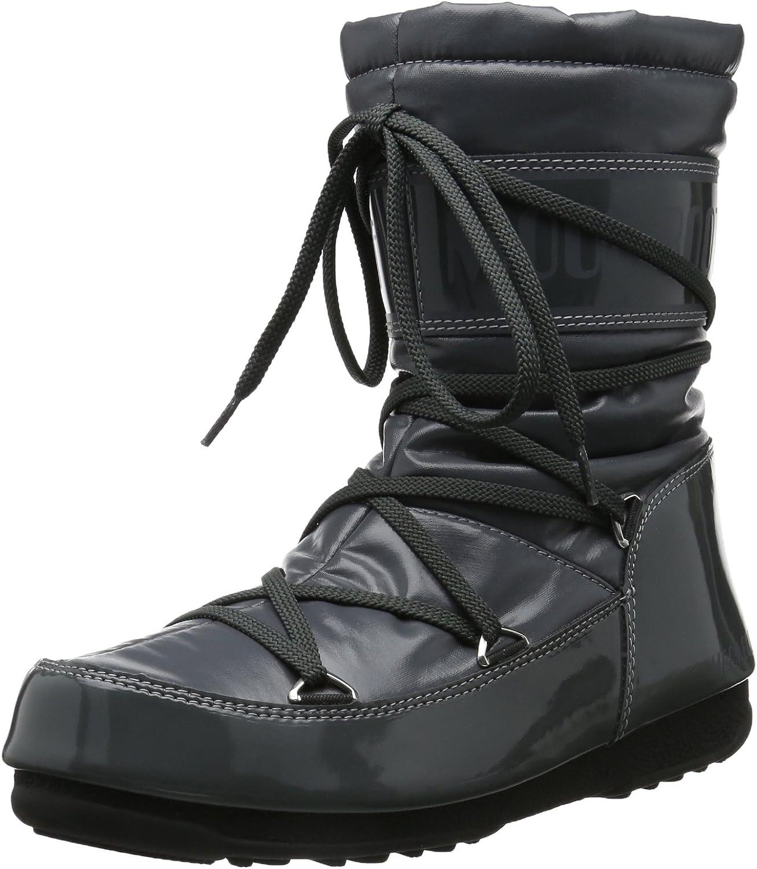 Moon Boot W.E. Soft Mid, Stivali, Donna, Grigio (Antracite