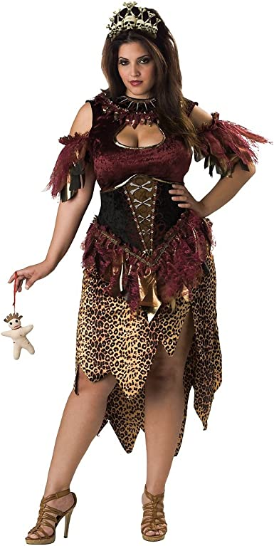 Amazon Com Voodoo Priestess Adult Costume Plus Size 2x Clothing