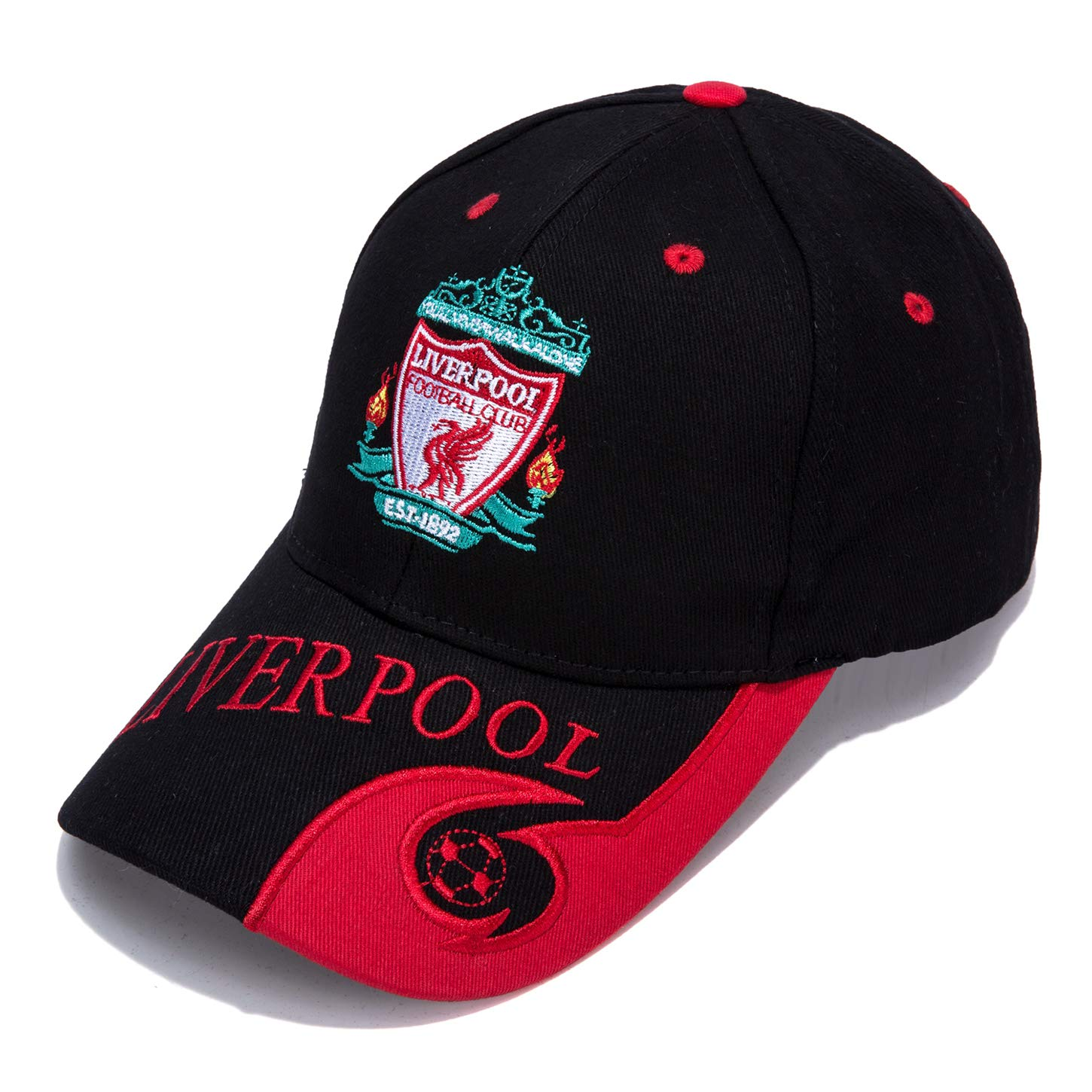 Embroidered Outdooors Adjustable Mens Baseball Cap CaiLLYOJHO Liverpool Black F.C
