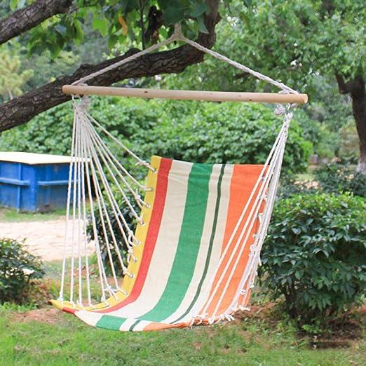 XXL Sillas para Terraza Y Jardin with Palo De Madera, 100x130cm (Capacidad de Carga 200 Kg) Naranja Columpios Adultos para Interior O Exterior: Amazon.es: Jardín