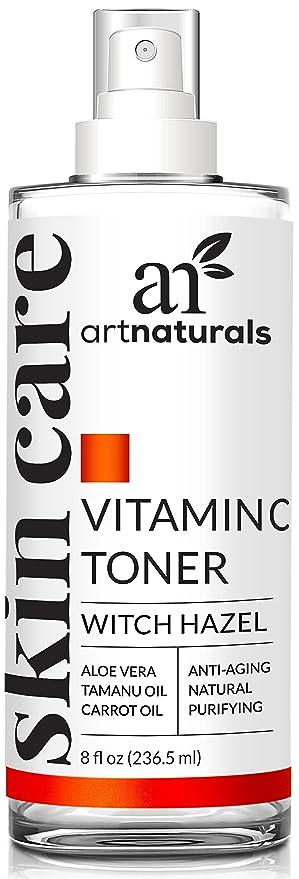 ArtNaturals Tónico Facial Hidratante de Vitamina C - 237ml - Ingredientes Orgánicos Como El Aloe Vera