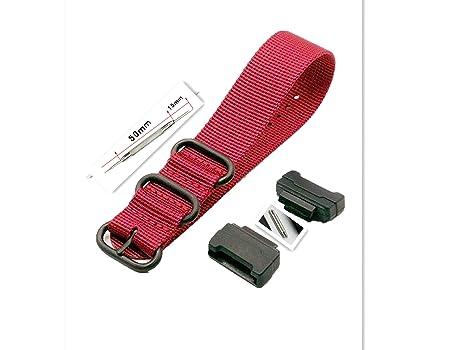 bfdbdebc0f0 Amazon.com  Adapters(16mm) and 1 Piece HD Conversion RAF NATO Nylon Watch  Band Strap Kit for Casio GShock MIL-Shock 5600 GWM5610 DW6600 GW6900 2310  G100 ...