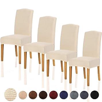 Amazon.com: TIANSHU - Funda elástica para silla de comedor ...