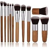 Oneleaf Premium Synthetic Bamboo Blush Foundation Eyeshadow Eyeliner Bronzer Makeup Brushes Sets