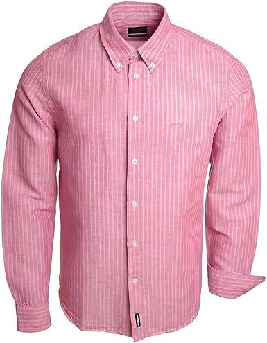 McGregor - Camisa Casual - para Hombre Rosa Large: Amazon.es: Ropa y accesorios