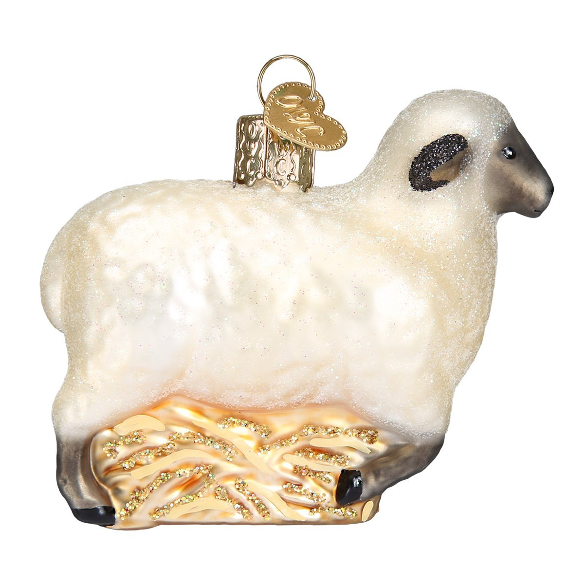 Old World Christmas Ornaments: Sheep Glass Blown Ornaments for Christmas Tree