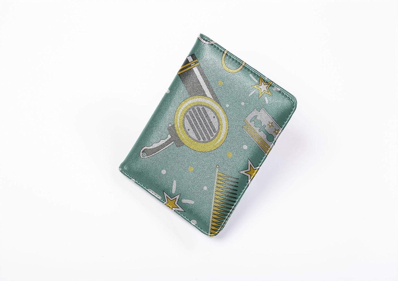 Womens Passport Case Fashion Creative Barber Shop Tool Designer Passport Case Multi Purpose Print Designer Passport Case Travel Wallets For Unisex 5.51x4.37 Inch