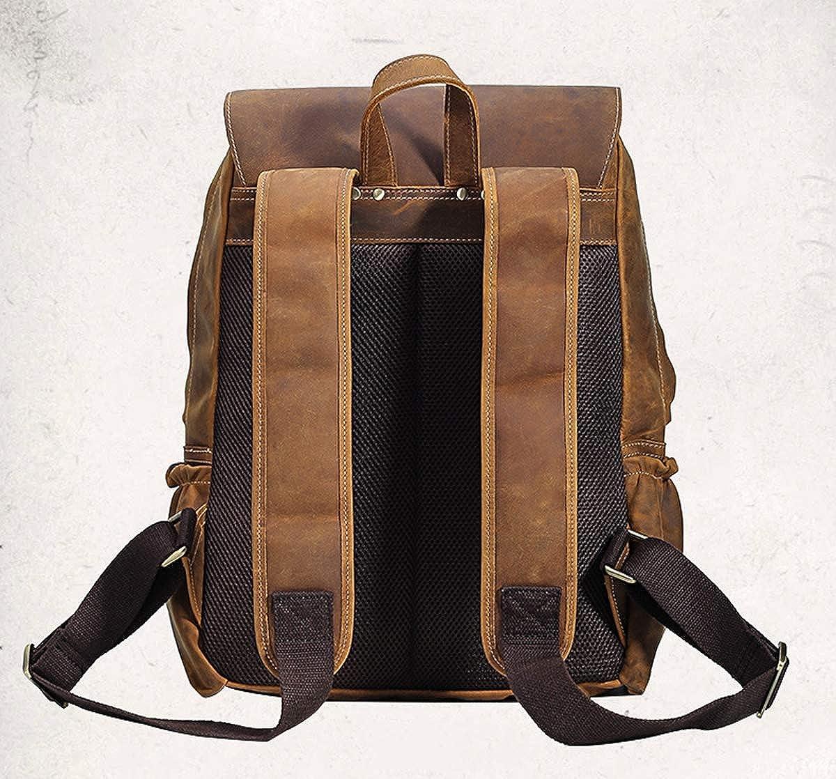 Vintage Mens Leather Travel Backpack School Leather Backpack Bag Handmade Laptop Backpack
