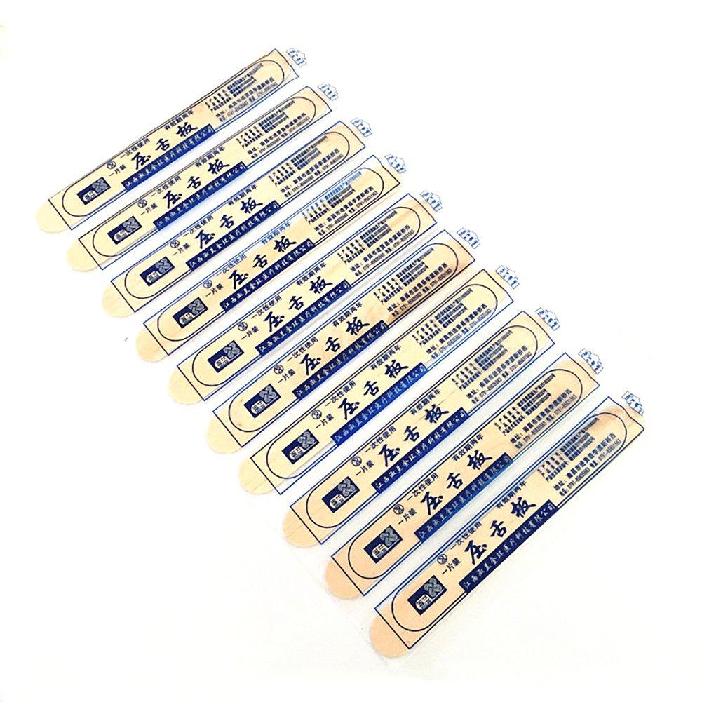 Tongue Depressors(100 Packs) Wooden Tongue Spatula Sterile - Disinfectant Individually Packed, Craft Sticks VANTIYAUS