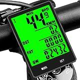 DINOKA Bike Computer Wireless, Large LCD Bike Odometer And Speedometer Wireless with Touch Button, Waterproof Bicycle Speedom