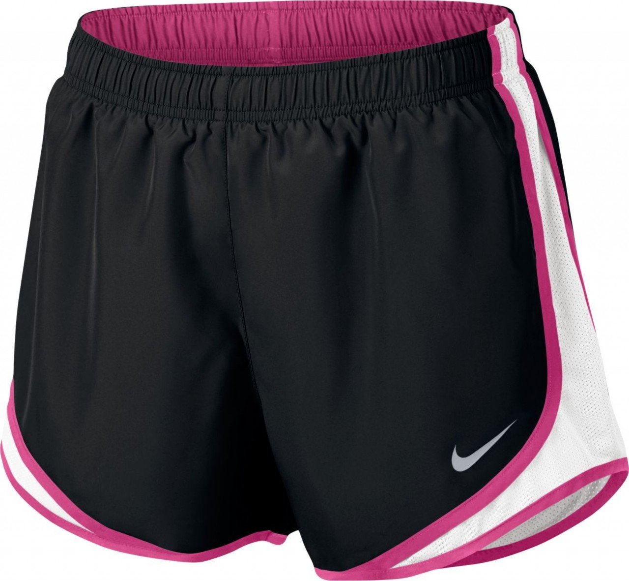 Nike Women's Dry Tempo Short, Black/White/Vivid Pink, Small by Nike