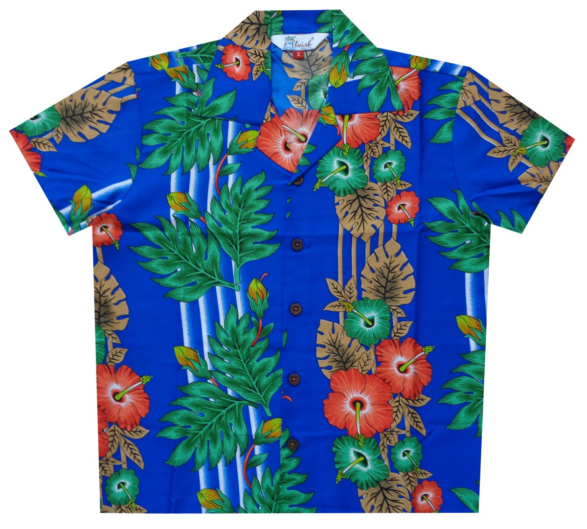Alvish Hawaiian Shirts Boys Panel Flower Beach Aloha Party Camp Holiday Casual
