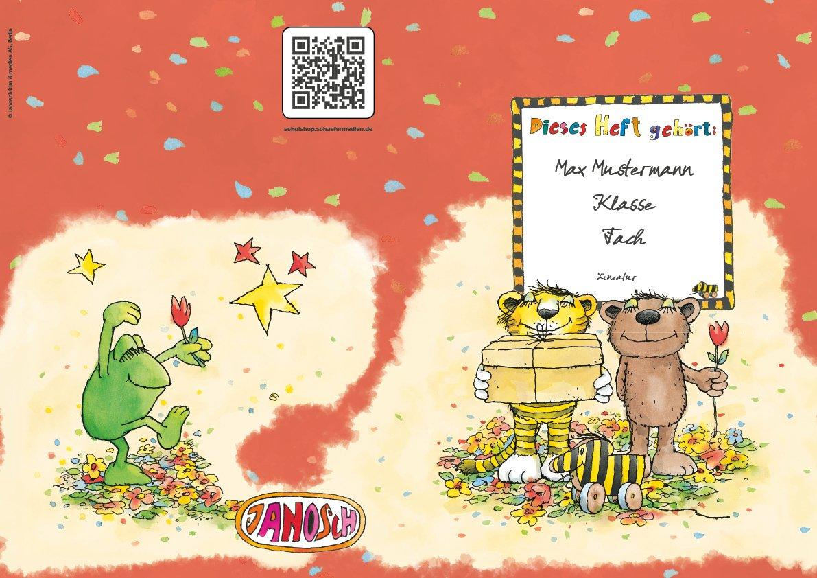 24 lustige JANOSCH-Schulhefte A4, »Geheimnisvolles Geschenk«, Lineatur 1, Frühlingsgrün, personalisierbar, 32 Seiten B0763MP57C   Bequeme Berührung    Deutschland Online Shop    Ausgezeichnet (in) Qualität