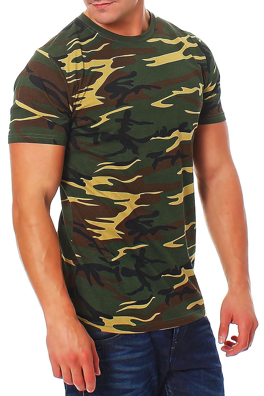 Happy Clothing T-Shirt Maglietta Militare Mimetica Camouflage da Uomo in Cotone 100% a Manica Corta Taglia da XS a 3XL