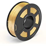 TECBEARS Shiny Silk Gold PLA 3D Printer Filament 1.75, Dimensional Accuracy +/- 0.02 mm, 1 Kg Spool, Pack of 1