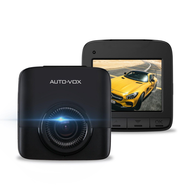 Auto-Vox Mini Dashcam 2,7 K avec petit é cran Camé ra Embarqué e Voiture avec G-sensor Camé ra de voiture 170 ° , super Vision de nuit, Dé tection de mouvement, Enregistrement en boucle Détection de mouvem