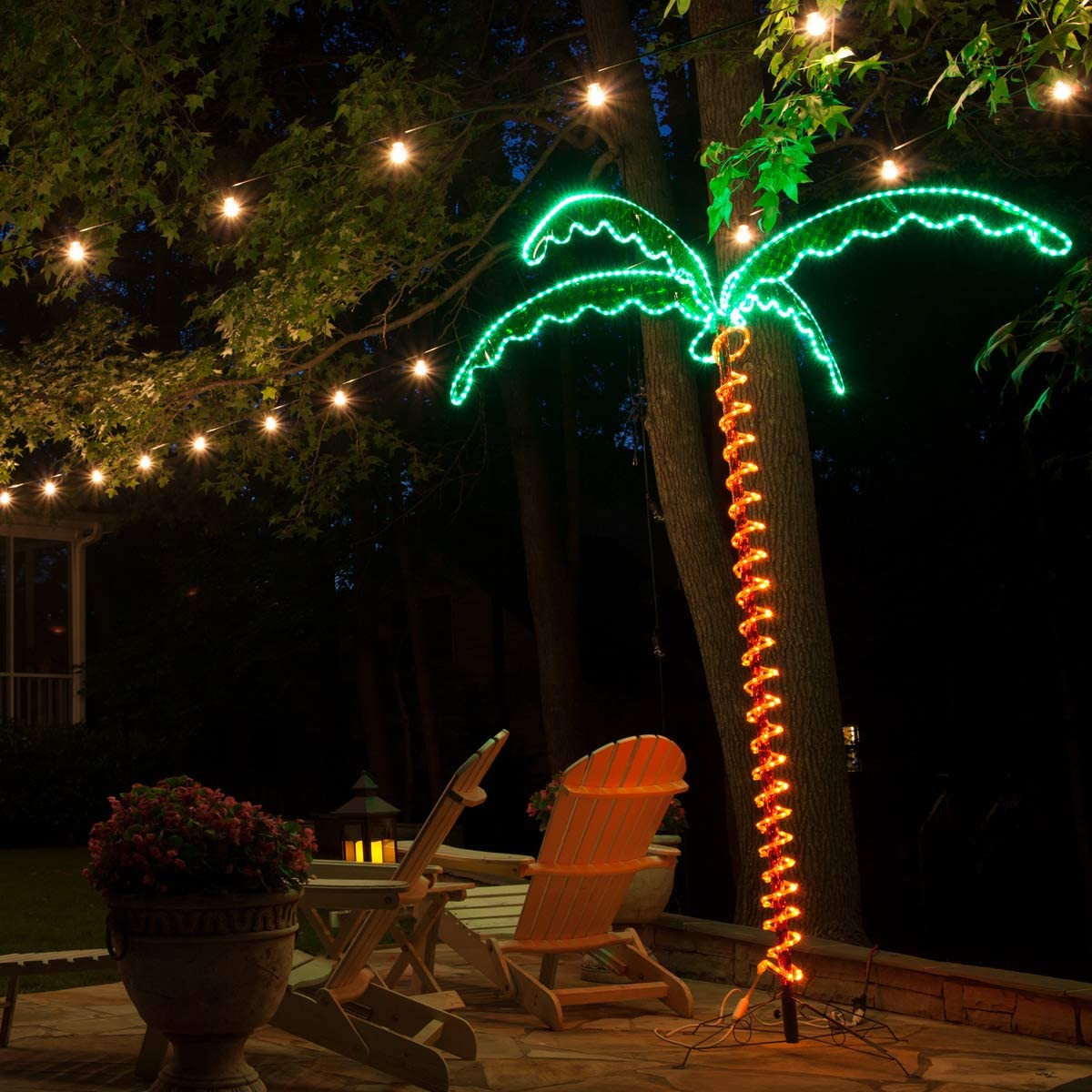 Amazon Com Led Deluxe Rope Light Palm Tree Green 7 Deluxe Led Lighted Palm Tree Home Kitchen