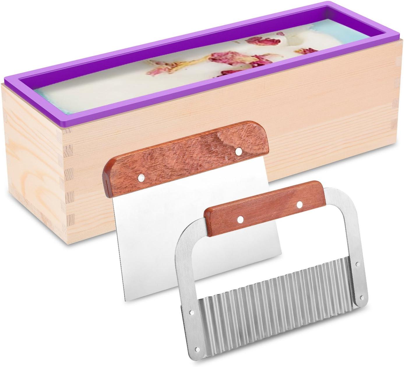 Molde y cortador para barras de jabon (25x7x8 cm)