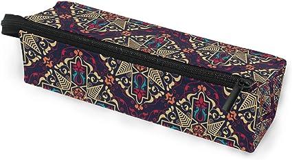 Bolso para lapicero Bolso para estuche Bolso floral Mandala Maquillaje Gafas de sol cosméticas para niñas Niños Escuela de viaje: Amazon.es: Oficina y papelería