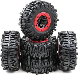 HOBBYSOUL 5pcs RC 2.2 Tires Crawler Soft Tires OD 124mm Tires W//Foam