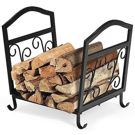 Goplus Firewood Log Rack Fireplace Storage Logs Bin Wood Holder Carrier  Outdoor/Indoor Lumber Store