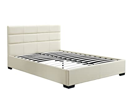 Amazon.com: DHP Modena Upholstered Bed with Headboard, No Boxspring ...