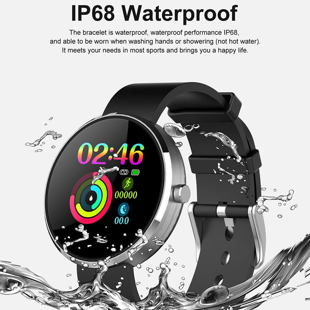 YNAA for Android iOS, Sport Smart Watch, Fitness Calorie Heart Rate Monitoring Physiological Cycle Reminder Smart Bracelet (D) by YNAA (Image #5)