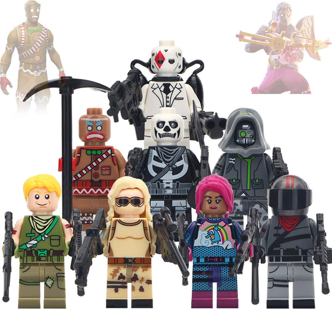 8 New Heroes, Battle Royal Toy Figures Set- 8 New Minifigures from Fort Battle Royal - Gift for Kids (Boys,Girls)- Update 2019!