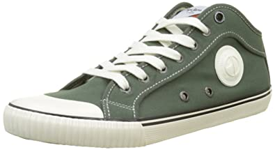 Pepe Jeans London Industry 1973, Sneakers Basses Homme, Vert (Stout), 44 EU