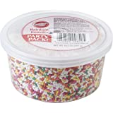 Wilton 710-9840 Rainbow Jimmies Tub Food Decorative, 10.5-Ounce