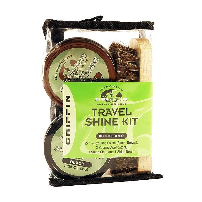 Amazoncom Griffin Travel Shoe Shine Kit Includes Black Polish