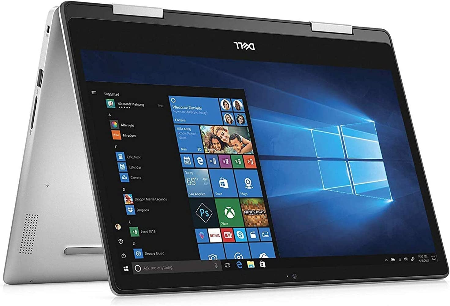 Dell Inspiron 14 5000 Series 14-Inch FHD Touchscreen (AMD Ryzen 5 3500U 2.1GHz, 8GB RAM, 128GB SSD, Radeon RX Vega8, Windows 10 Home 64-Bit) 2-in-1 Laptop Computer