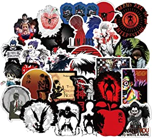 50Pcs Cartoon Anime Death Note Stickers for Water Bottle Cup Laptop Guitar Car Motorcycle Bike Skateboard Luggage Box Vinyl Waterproof Graffiti Patches JKT