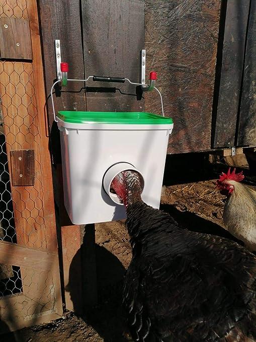 Futterautomat galvanizado comedero barro pollos geflügelfutterautomat patos gansos