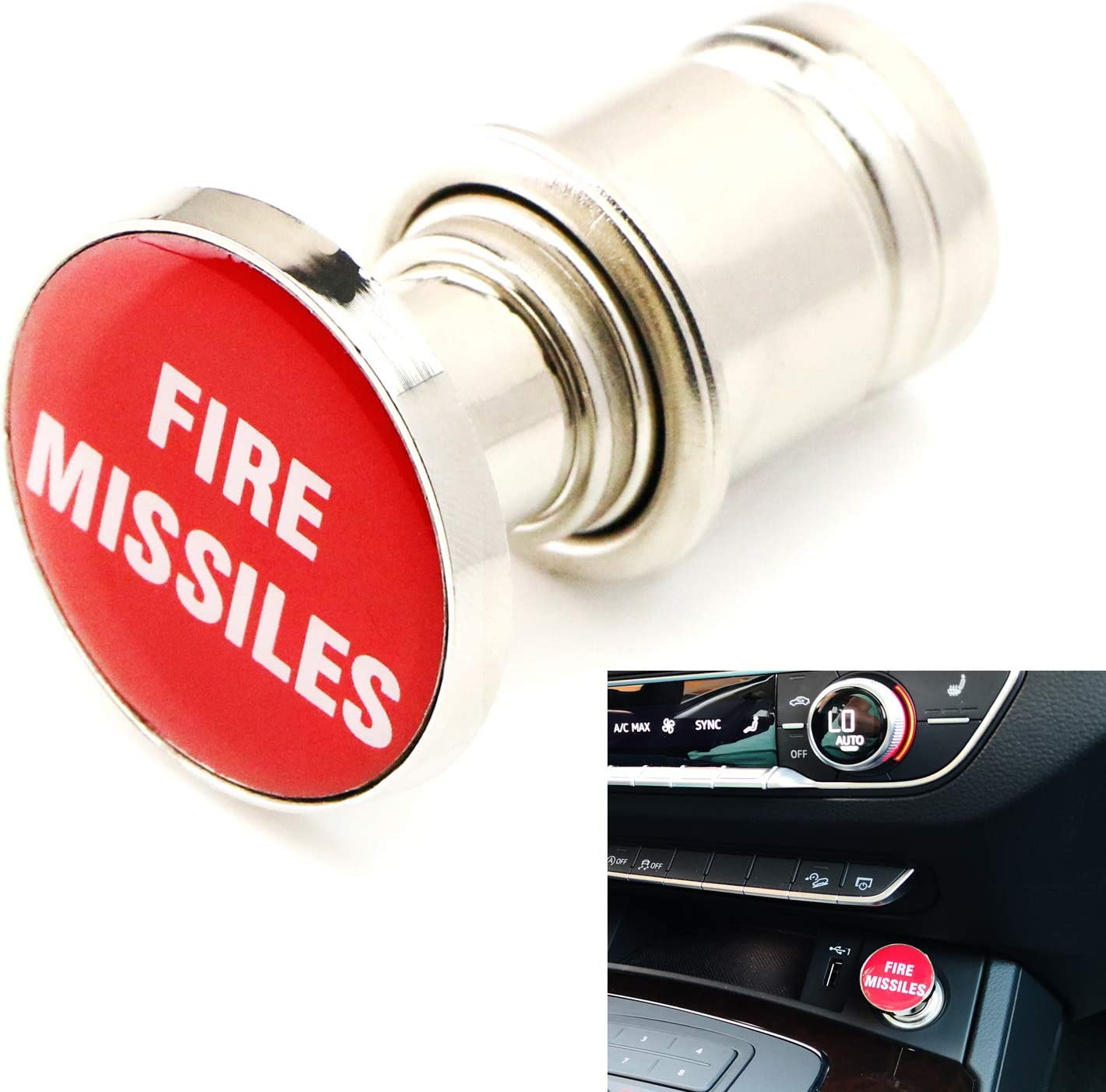 Car cigarette lighter cover heets silver aroma
