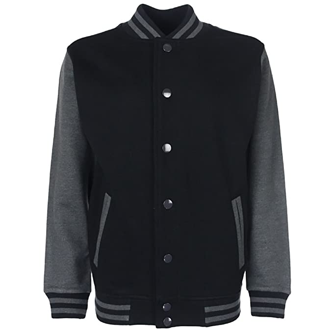 Fdm Fdm Junior Varsity Jacket Black//white 11-13