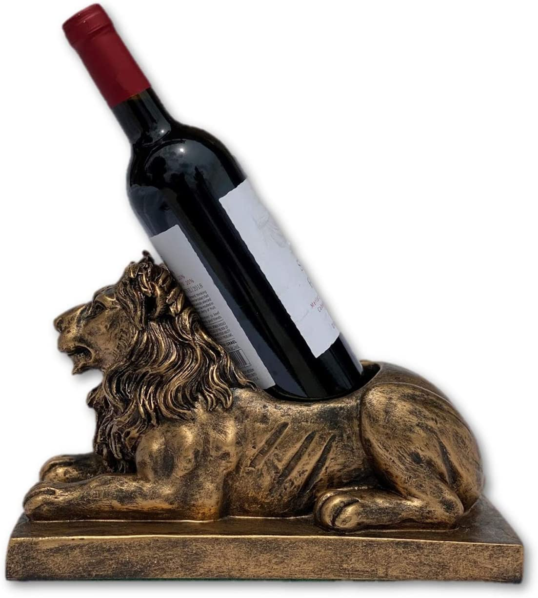 THE NIFTY NOOK | Novelty Lion Wine Bottle Holder | Functional Kitchen Statue | Home Decor | Ideal Gift for The Wine Enthusiast (Lion Wine Bottle Holder)