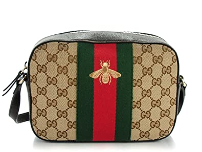 d316fae5e82 Amazon.com  Gucci Bee Brown Web Camera Case Webby Red Stripe Camera ...